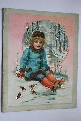 """""""Woolson Spice Co/Lion Coffee"""" Christmas Greeting Trade Card"""