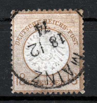 Briefmarken Deutsches Reich grosses Brustschild MiNr 28 gest. FA