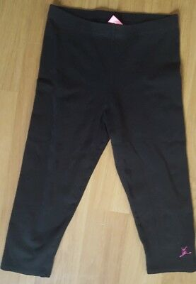 Girls Size L Large Black Dance Capezio Capris Pants