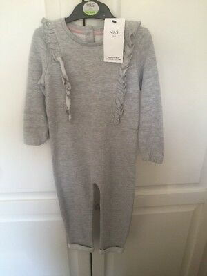 Bnwt Girls Cotton All In One Jumpsuit Playsuit From M&S 2-3yrs Warm Was £14 New