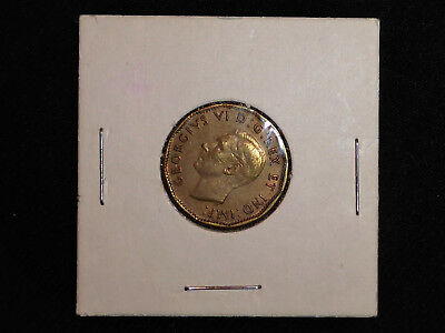 1943 WW2 Canadian Tombac Nickel 5 Cent Coin Uncirculated