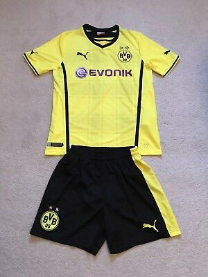 Borussia Dortmund Boys Puma Home Kit 2013-2014 Size Yxl Excellent Condition!