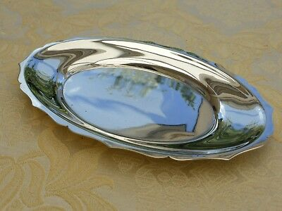 Vintage Oval Silver Plated Scalloped Edged Dish   1380529/533