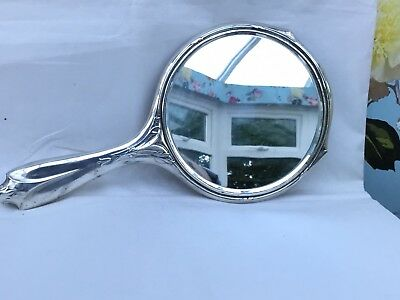 Vintage Silver Dressing Table Mirror, Art Nouveau Style, Hallmarked 1924