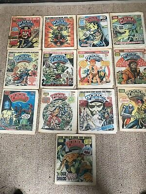2000Ad Job Lot ,1980's  61 Comics + 3 Best Of Monthly +Some Extra With No Covers