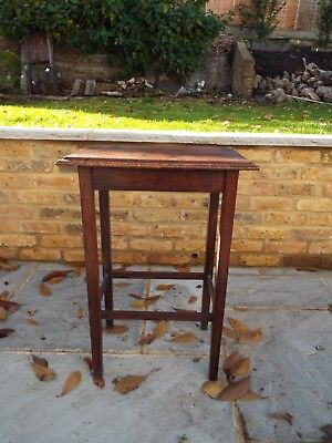 Oak table/plant stand 1930s