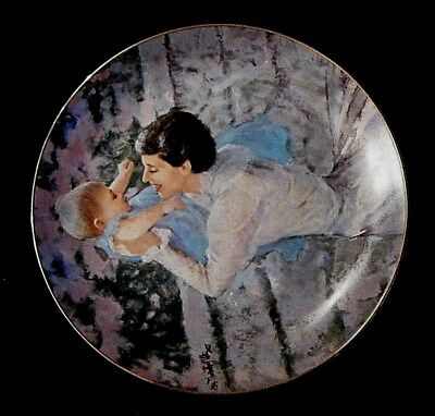 """THE HAMILTON COLLECTION """"Mother's Angel"""" Signed Numbered Handpainted Plate 1985"""
