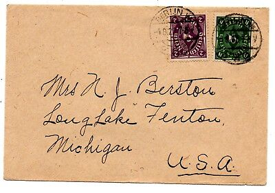 1922 cover to USA franked 6 marks on stationery from prestigious Hotel Adlon