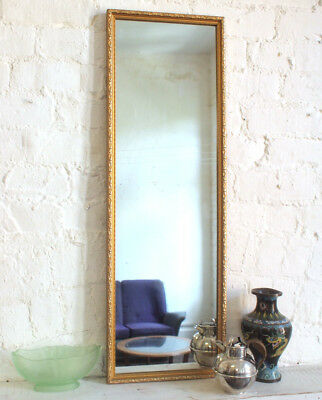 Square 1950s 1960s Shabby Chic Gold Brass Metal Wall Mirror Large Vintage Retro