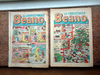 Beano Christmas comic 1223 from 1965 excellent  Plus free extra Beano Christmas