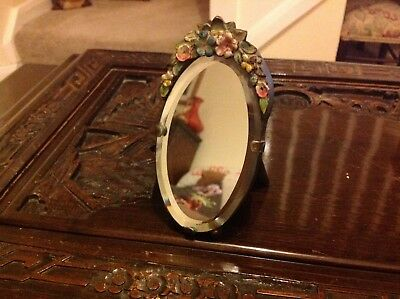 Vintage Barbola Small Freestanding Table Top Mirror