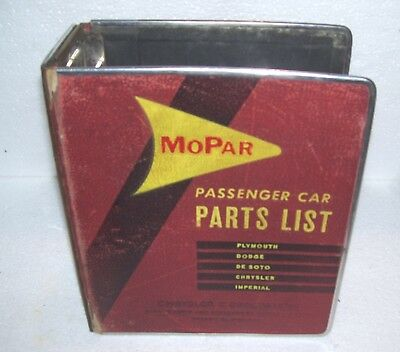 Mopar parts lists folder- Nice shape Plymouth Dodge Chrysler DeSoto
