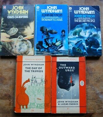 Vintage Science Fiction Paperbacks - John Wyndham - 1960/1970s