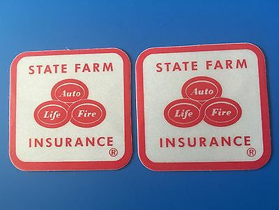 """2 State Farm Insurance Reflective Durable Bumper Sticker Decal 1.5"""" Auto Safety"""