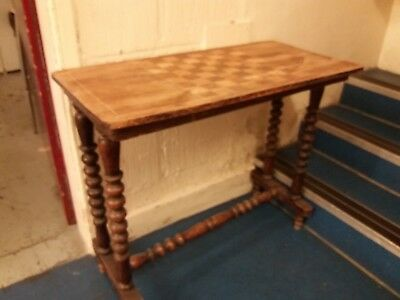 19th Century Inlaid Chess Table Country House Style Antiques