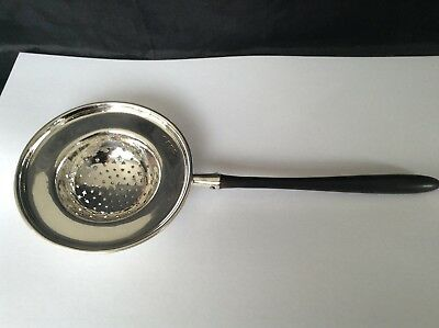 Solid Silver Large Tea Strainer 1907