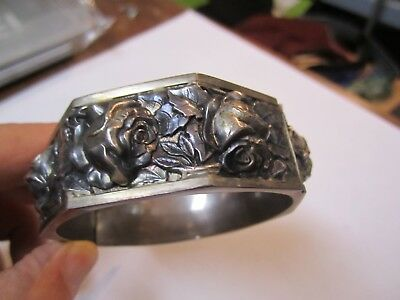 Heavy Antique French  Silver Bracelet 19th Century???