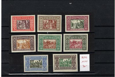Lithuania    .  Mint   1932   Impref    Nice  Lot  31/32