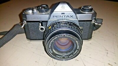 Pentax MX 35mm SLR camera with stock 50mm f1.7 lens