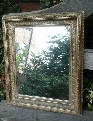 Vintage Antique Gilded Wood picture frame / wall mirror