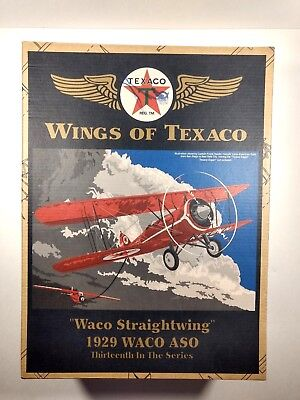 Wings Of Texaco Diecast Metal Coin Bank 13Th In The Series Waco Straightwing