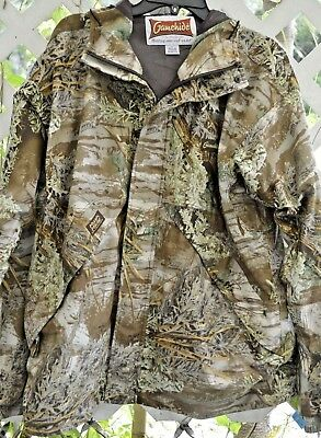 35239c082c2e8 Gamehide Hooded Jacket Hush Hide Advantage Max-1 Camo Hunting Outdoor Mesh  Lined