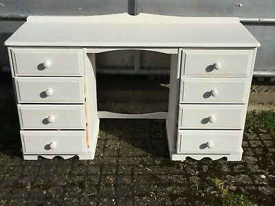 Painted Pine Desk/ Dressing Table with Drawers