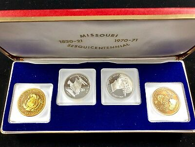 1820-1970 Sesquicentennial Missouri Gateway to the West Medals Proof Set Silver