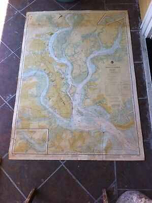Charleston Harbor Nautical Chart #11524 Stono Ashley Cooper Wando Rivers
