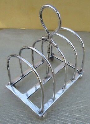 Antique Edwardian Sterling silver toast rack, 94 grams, 1904