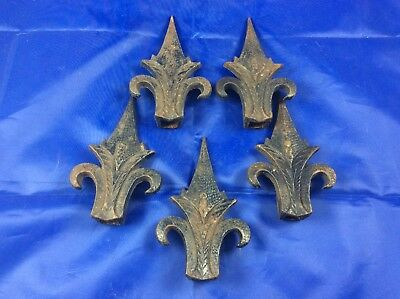 Wrought Iron Fence Top Spear Point Set of 5