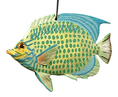 Carribean Sea Tropical Parrot Fish Ornament 6 Inches ORN24 Resin Blue and Green