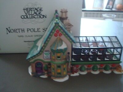 Dept 56 North Pole Series, Mrs Claus Greenhouse 56395