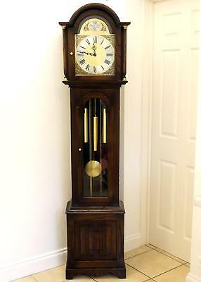 Chiming Jaycee Tudor Oak Grandfather Longcase clock Westminster Chimes Old Charm