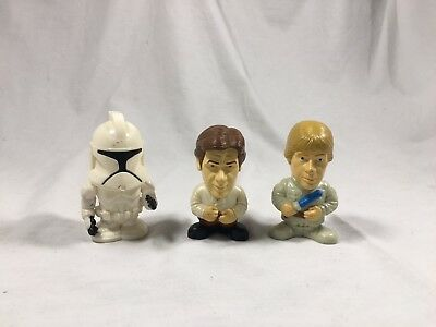 Lot of 3 - 2005 Burger King Kids Meal Toys - STAR WARS