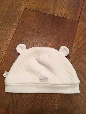 ABSORBA White Baby Hat With Ears 1m Ex Condition