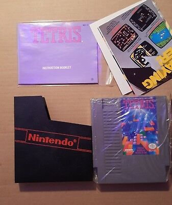 TETRIS * Nintendo NES *  COMPLETE CIB * Cart, Manual, Box
