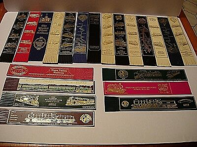 21 Leather Bookmarks - Preserved Railways  - See all pictures