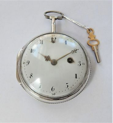 1820 Silver Consulate Cased Verge Fusee Pocket Watch Lind London Working