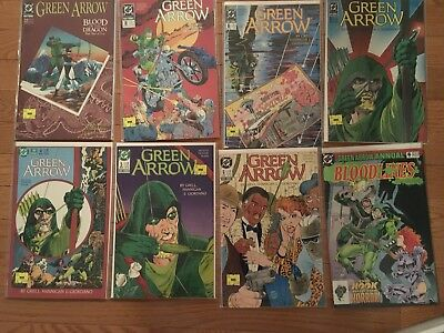 Green Arrow #4  5 6 10 16 18 22 Annual 6  Lot 139 1988 Series