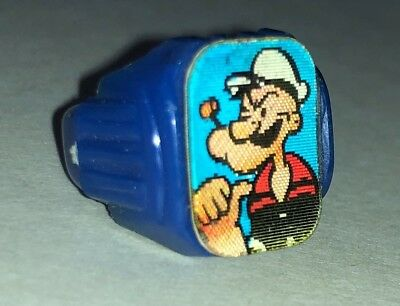 1960s Popeye and Sweet Pea Gumball Machine Ring  - Winky Ring  - Flicker Ring.