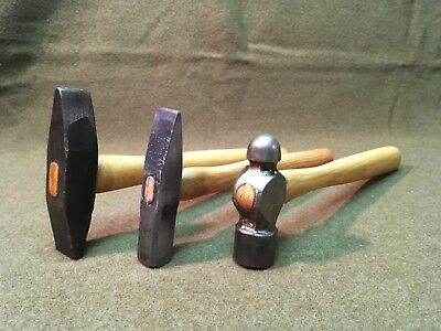 Blacksmith/Metalworking Tool Lot - Ball Peen, Cross/Straight Peen, Rivet Hammer