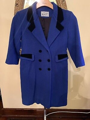 Vintage Rothschild Girls Royal Blue Lined Wool Dress Coat Made in AMERICA Size 8