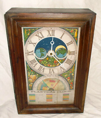 Vintage Planters Gardeners Clock Mechtronics Corp Wall Or Mantle Model 4A