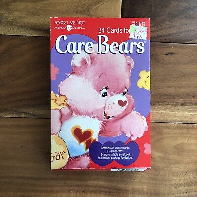 Care Bears Valentines Day Cards -  Carebears Vintage 1995 - 90s Deadstock (34)
