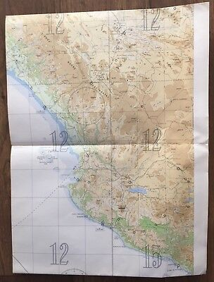 US NAVY Air Navigation Chart MEXICO NORTH PACIFIC OCEAN (Vintage) Nautical Map