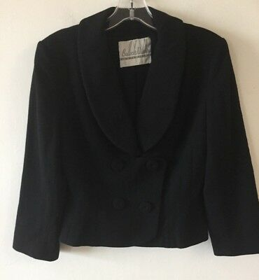 Vintage Bullock's Wilshire Wynshire Double Breasted Cropped Jacket Women's S