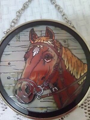 Amia Fine Art Beautiful Horse Stained Glass Sun Catcher w/Box
