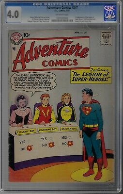 Adventure Comics #247 1St Appearance Legion Of Super Heroes Cgc 4.0 Ow Pages