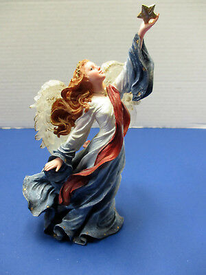 Boyds Charming Angel Victoria Guardian of Freedom Holding Star Red White Blue